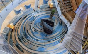 Public area carpet on cruise ship