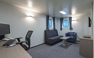 Crew Area carpet on board
