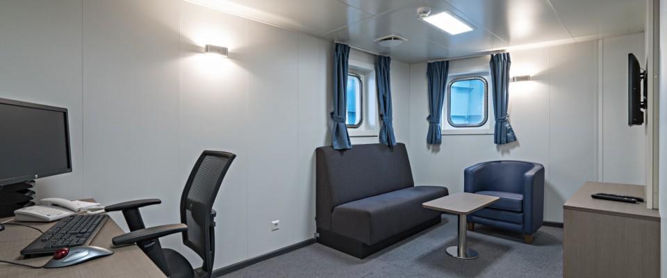 Crew Area carpet on board